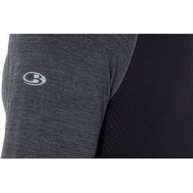 Icebreaker 200 Zone Camiseta manga larga cuello redondo Hombre, jet heather/black